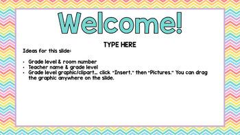 Back to School EDITABLE PowerPoint-Rainbow Brights