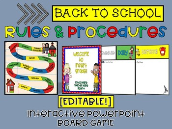 editable back to school rules procedures powerpoint game template
