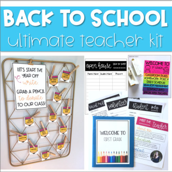 Back to School *EDITABLE* Teacher Kit