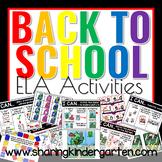 Back to School ELA Activities