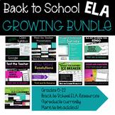 Back to School ELA Activities Growing Bundle
