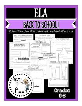 Back to School ELA Activities for Middle School