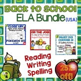 Back to School ELA BUNDLE - Writing, Reading, Spelling Activities