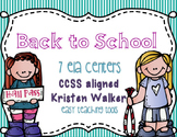 Back to School ELA Centers for 2nd grade {7 CCSS centers}