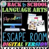 Back to School ELA Digital Escape Room for Distance Learning