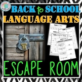 Back to School ELA Escape Room