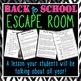 Back to School ELA Escape Room - Pop Culture Edition