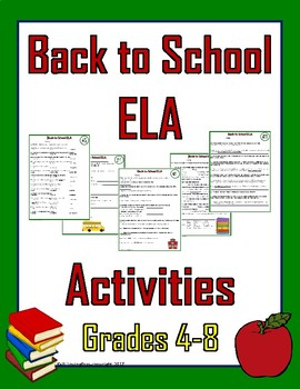 August ELA Puzzles - Back to School (Grades 4-8)