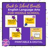 Back-to-School ELA Middle School Bundle