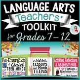 Back to School English Language Arts Teacher's Toolkit Bundle