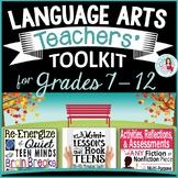 Back to School English Language Arts Teacher's Toolkit Bundle