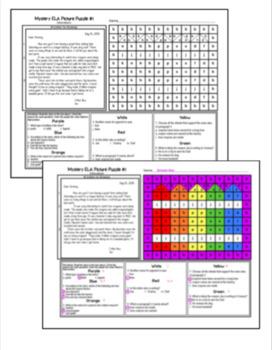 Back to School ELA Mystery Puzzles Grade 3 Edition