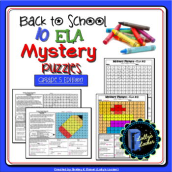 Back to School ELA Mystery Puzzles Grade 5 Edition