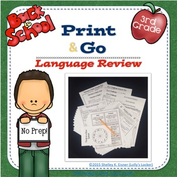 3rd Grade Back to School Language Review Print and Go
