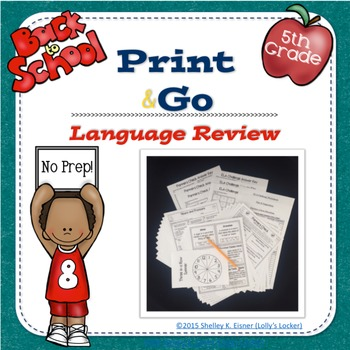 Grade 5 Back to School Language Review Print and Go Pack