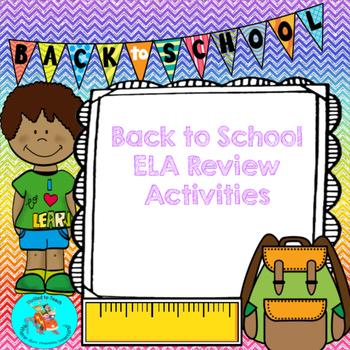 Back to School Review Activities Bundle