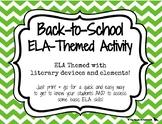 Back-to-School ELA-Themed Activity