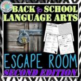 Back to School ELA Escape Room - SECOND EDITION