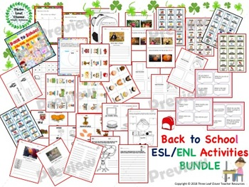 Back to School ESL/ENL Activities Bundle