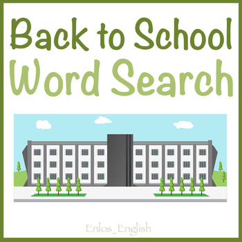 Back to School ESL Word Search