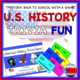 Back to School Early American History Trivia Game