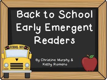 Back to School Early Emergent Readers