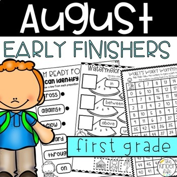 Back to School Early Finisher Journal: August Above & Beyond First Grade