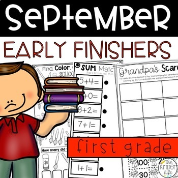 Back to School Early Finisher Journal September Above and Beyond First Grade