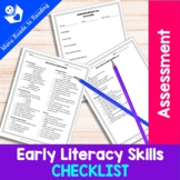 Early Literacy Skills Checklist