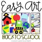 Back to School Easy Art Pack: Adapted Art Activities and W