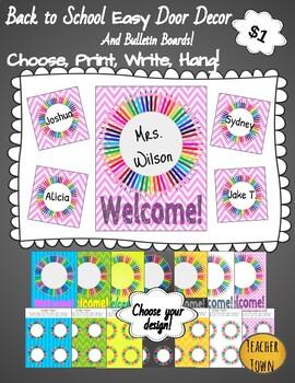 Back to School Easy Door Decor and Bulletin Board Designs