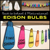Back to School All About Me & Motivational Edison Bulbs {C