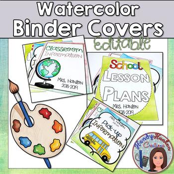 Editable Binders Watercolor Theme