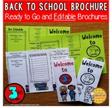 Back to School Editable Brochure 3rd Grade