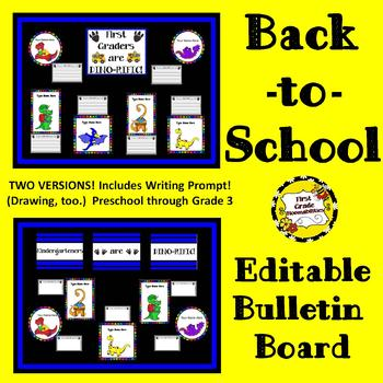 Back-to-School Editable Bulletin Board (DINO-RIFIC Class)