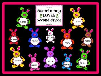 Back-to-School Editable Bulletin Board (Somebunny Loves... PINK)