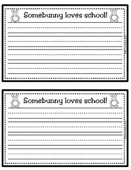 Back-to-School Editable Bulletin Board (Somebunny Loves... RED)