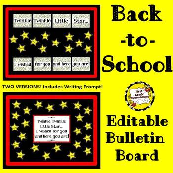 Back-to-School Editable Bulletin Board (Twinkle Twinkle)