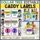 Back to School Editable Caddy Labels - Dollar Tree