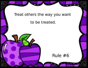 Editable Class Rules - Apples Theme