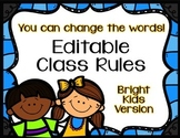 Editable Class Rules - Bright Kids Theme