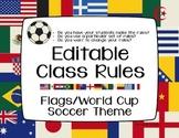 Editable Class Rules - Flags/World Cup Soccer Theme