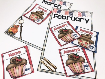 Back to School Editable Classroom Birthday Bulletin Board