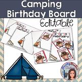 Classroom Birthday Bulletin Board Editable