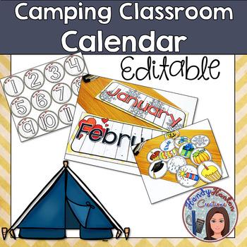 Back to School Editable Classroom Calendar