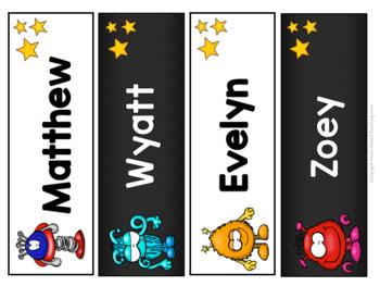 Monster Splat Designed Name Tags and Desk Plates  {EDITABLE}