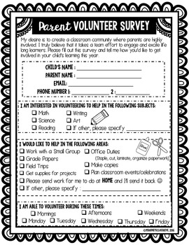 Back to School *Editable* FORMS (Everything You Need to Give to Parents)