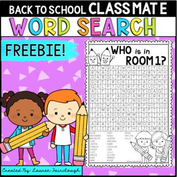 Back to School Editable FREEBIE