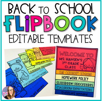Back to School Editable Flip Book Templates
