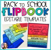 Back to School Editable Flip Book Templates